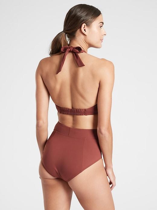 Sculpted Halter Bikini Top