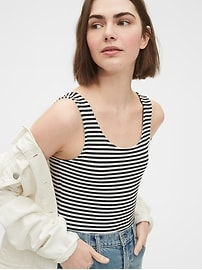Scoopback Striped Bodysuit