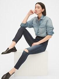 1969 Premium Sky High Rise True Skinny Ankle Jeans