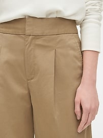 High Rise Wide Leg Khaki Pants
