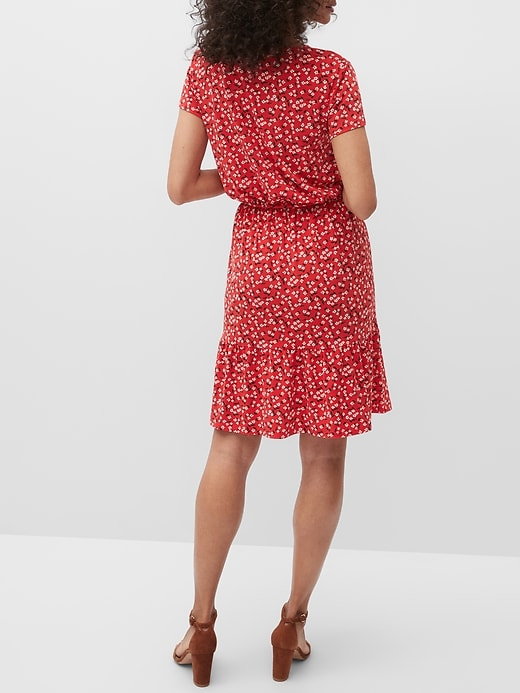 Flounce-Hem Fit-and-Flare Dress