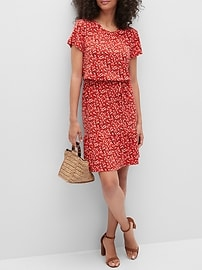 Deals on Banana Republic Factory Flounce-Hem Fit-and-Flare Dress