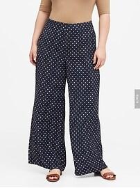 High-Rise Wide-Leg Polka Dot Pant
