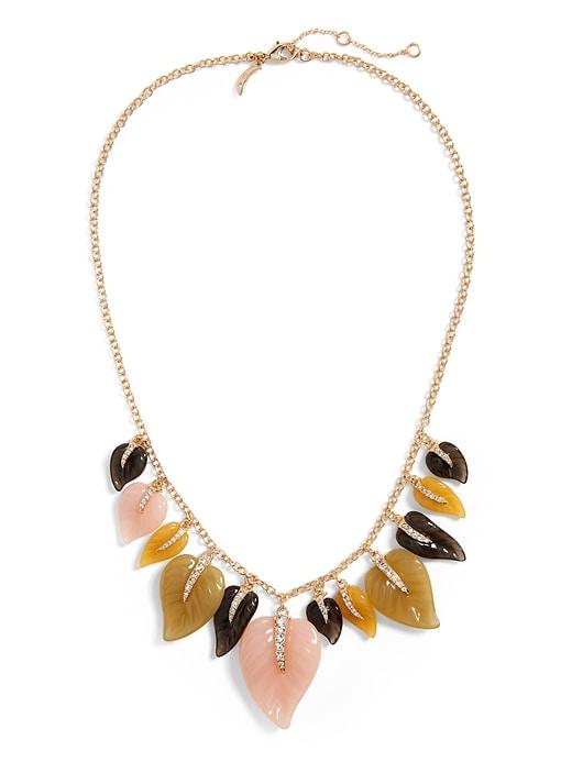 Resin Leaf Necklace
