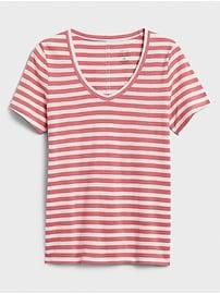 Striped Malibu Slub V-Neck T-Shirt