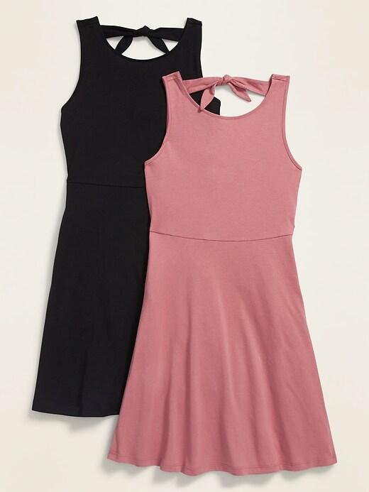 Tie-Back Sleeveless Dress 2-Pack for Girls