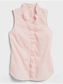Textured Ruffle Tailored Shirt