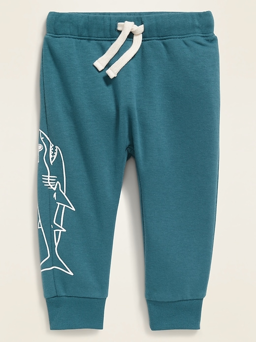 Graphic Functional-Drawstring Joggers for Toddler Boys