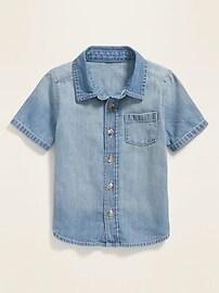 Jean Pocket Shirt for Toddler Boys