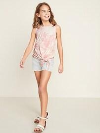 Luxe Tie-Hem Sleeveless Top for Girls