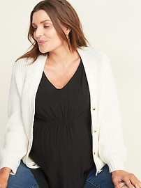 Maternity V-Neck Ruched Sleeveless Top