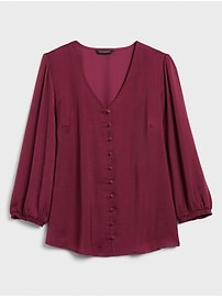 Covered-Button Blouse