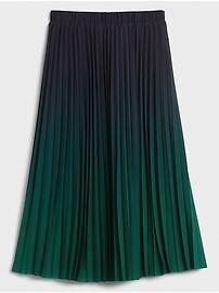 Ombre Pleated Midi Skirt