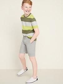 Built-In Flex Twill Straight Uniform Shorts for Boys