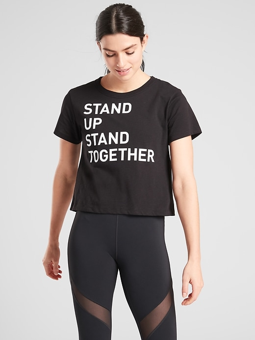 Daily Crop Tee Stand Up Graphic