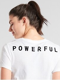 Daily Crop Tee Powerful Graphic