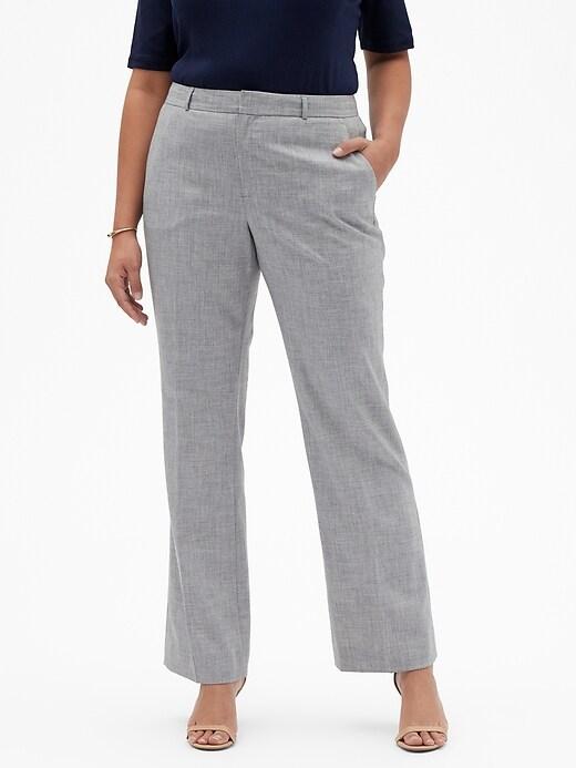 Washable Curvy Logan Grey Suit Trouser