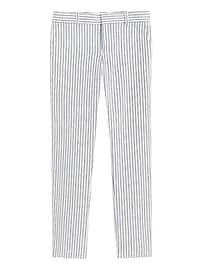 Avery Straight-Fit Linen-Cotton Pant