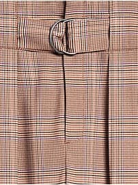 Pantalon trois quarts plissé à taille haute