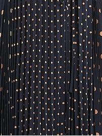 Polka Dot Pleated Maxi Dress