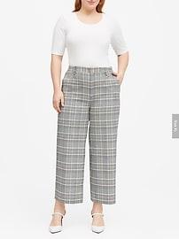 Slim Wide-Leg Cropped Pant
