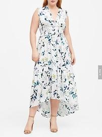 Print Soft Satin Maxi Dress