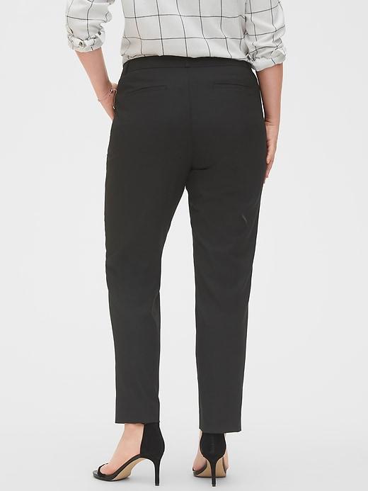 Petite Washable Curvy Ryan Black Slim Straight Suit Pant