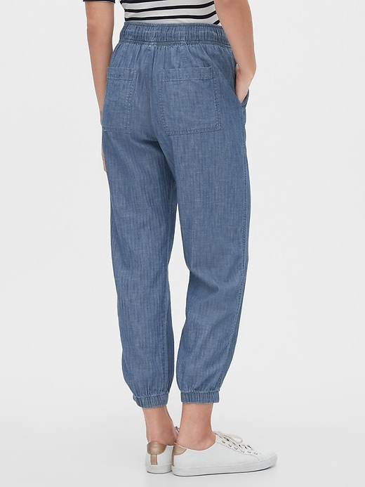 Utility Joggers in Chambray