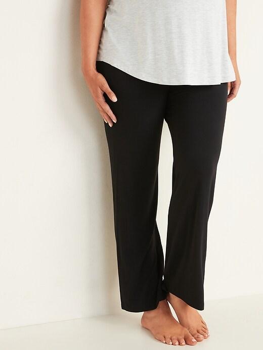 Maternity Fold-Over-Waist Jersey Lounge Pants