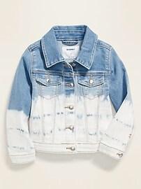 Dip-Dyed Jean Jacket for Toddler Girls