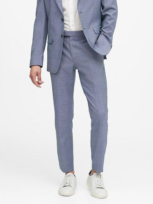 Slim Tapered Italian Wool Suit Pant