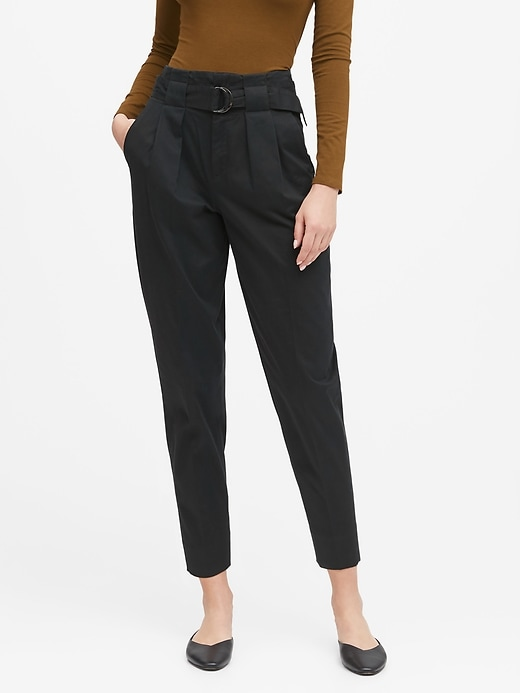 Petite High-Rise Tapered Cropped Pant