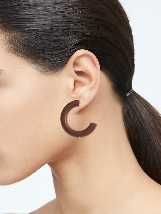Wood Hoop Earrings