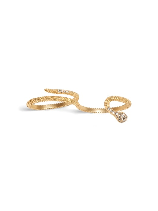 Snake Two-Finger Ring