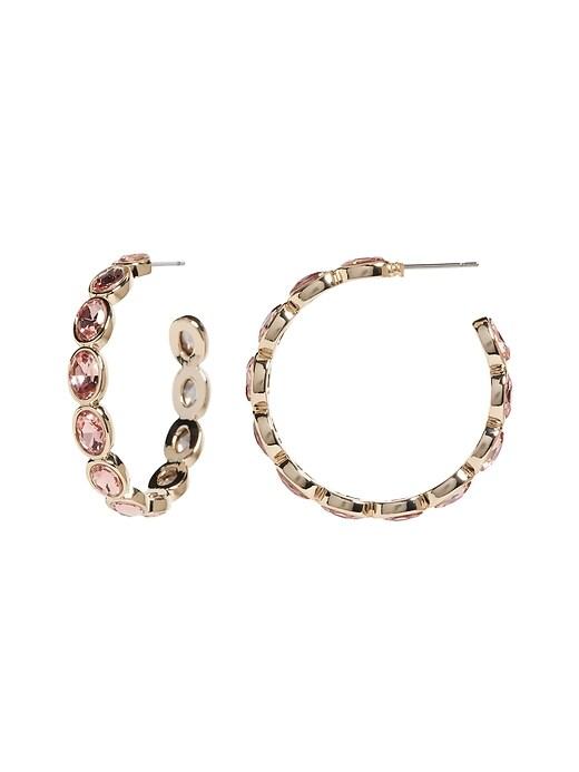 Large Bling Hoop Earrings