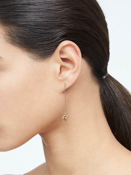 Flower Linear Earrings