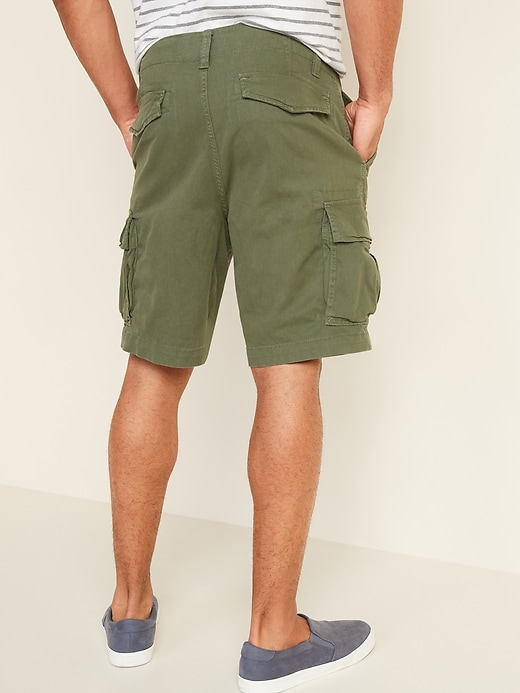 Lived-In Straight Cargo Shorts for Men -- 10-inch inseam