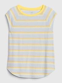 Striped Sleeveless Raglan T-Shirt