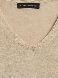 Petite Relaxed Linen-Blend Sweater