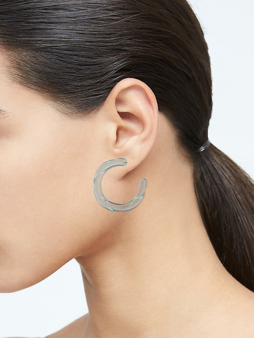 Twisted Resin Hoop Earrings