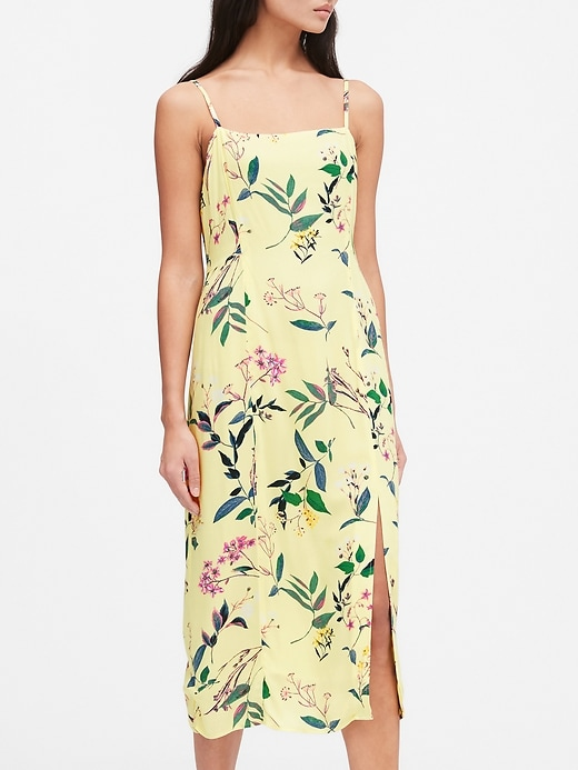 Petite ECOVERO&#153 Square-Neck Midi Dress