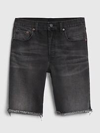 High Rise Bermuda Denim Shorts