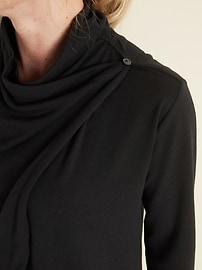Lightweight French Terry Open-Front Sweatshirt for Women