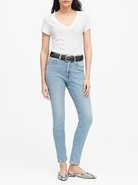 Slub Cotton-Modal V-Neck T-Shirt