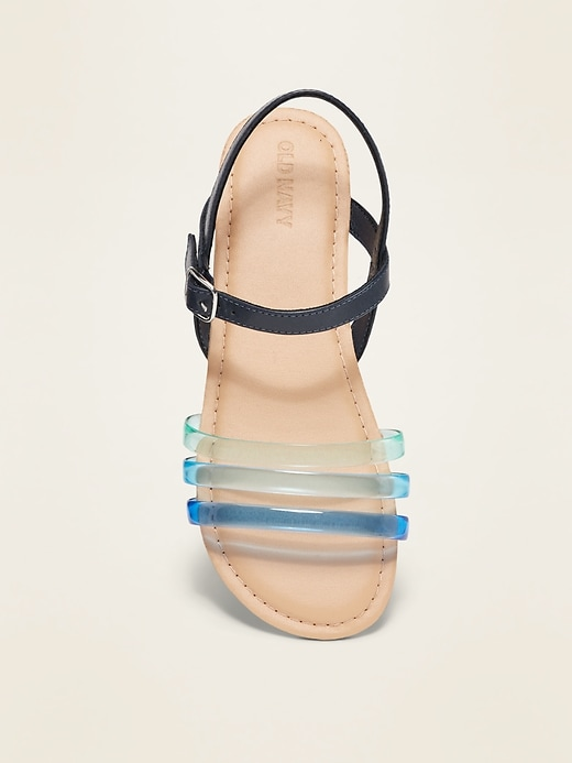 Ombré-Jelly Triple-Strap Sandals for Girls