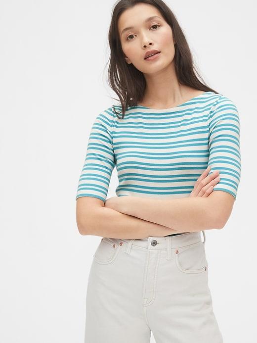 Modern Stripe Ballet-Back T-Shirt