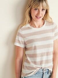 EveryWear Striped Crew-Neck Tee for Women