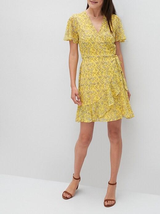 Flutter-Sleeve Wrap Dress