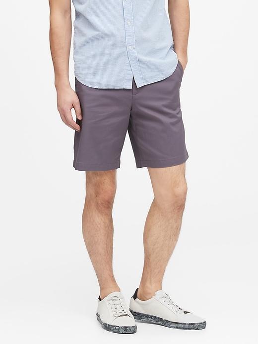 "9"" Slim Stretch-Cotton Short"