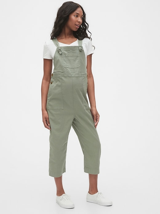 Maternity Cropped Overalls in TENCEL&#153